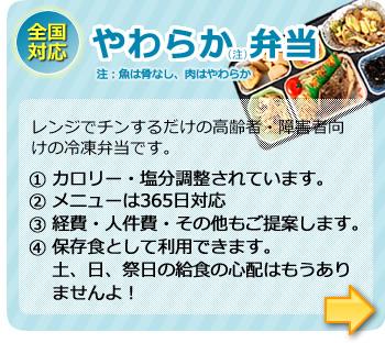 冷凍弁当による新提案